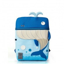 Balo BeddyBear - xanh dương - họa tiết cá voi-BJX-YE-002-CAVOI
