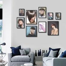 Khung ảnh treo tường composite Salon tóc KA173 (tặng ảnh)