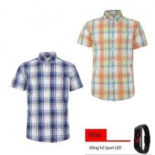 Combo 2 áo sơ mi nam sọc caro Model Fahion cao cấp MSMI8289 (tặng đồng hồ sport led )