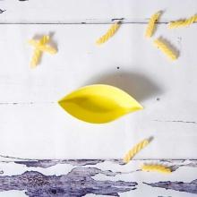 Đĩa lá nhỏ vàng GSSD026A1 Yellow Leaf-Shaped Plate