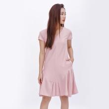 Đầm suông thời trang Eden cổ tim đuôi cá màu hồng - D372