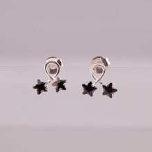 Opal - hoa tai bạc trẻ trung - HT04