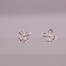 Opal - hoa tai bạc trẻ trung - HT12