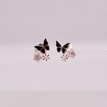 Opal - hoa tai bạc trẻ trung - HT16