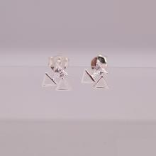 Opal - hoa tai bạc trẻ trung - HT 17