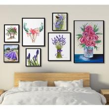 Khung ảnh treo tường composite sắc hoa KA166 (tặng ảnh)