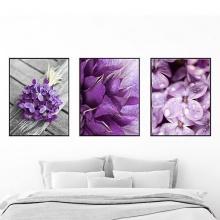 Khung ảnh composite treo tường hoa tím KA163 (tặng ảnh)