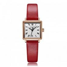Đồng hồ nữ js--031b julius hàn quốc dây da đỏ