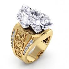 Nhẫn nam kỳ hưu mạ vàng 18k RM01048