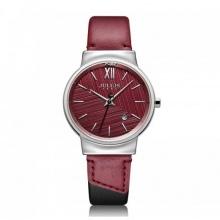 Đồng hồ nữ ja-1181a julius hàn quốc dây da đỏ