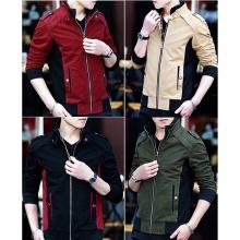 Áo khoác kaki nam cao cấp dáng áo đứng, phù hợp nhiều phong cách kvncvpm01 (chọn màu:đen,xanh rêu, đỏ đô, kem)