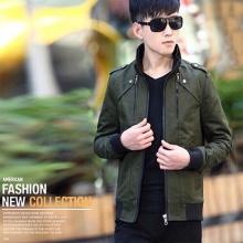 Áo khoác kaki nam cao cấp dáng áo đứng, phù hợp nhiều phong cách kvncv02 (xanh rêu)