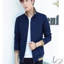 Áo khoác kaki nam cao cấp dáng áo đứng, phù hợp nhiều phong cách kvnnut02 (xanh đen)