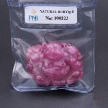 Mặt đá Ruby hồng đậm Phật Di Lặc Hadosa - NCTRB20