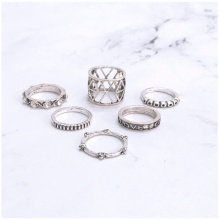 Set 6 nhẫn midi ring love - Tatiana - NH2321