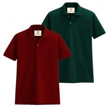 Áo thun nam cổ bẻ vải cá sấu cao cấp dokafashion, combo 2 áo (đỏ đô, xanh rêu)