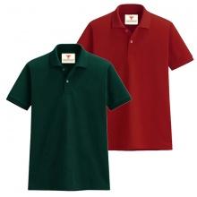 Áo thun nam cổ bẻ vải cá sấu cao cấp dokafashion, combo 2 áo (xanh rêu, đỏ tươi)