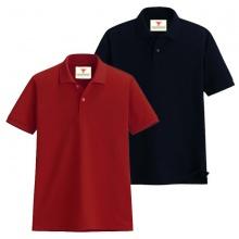 Áo thun nam cổ bẻ vải cá sấu cao cấp dokafashion, combo 2 áo (đỏ tươi, đen)