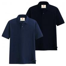 Áo thun nam cổ bẻ vải cá sấu cao cấp dokafashion, combo 2 áo (xanh đen, đen)