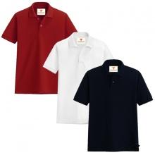 Áo thun nam cổ bẻ vải cá sấu cao cấp dokafashion, combo 3 áo (đen, trắng, đỏ tươi)
