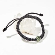 Vòng tay kết dây đính đá thạch anh tóc xanh - Ngọc Quý Gemstones