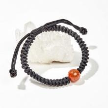 Vòng tay kết dây đính đá thạch anh tóc đỏ - Ngọc Quý Gemstones