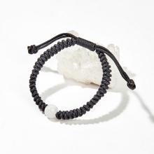 Vòng tay kết dây đính đá thạch anh ưu linh trắng - Ngọc Quý Gemstones