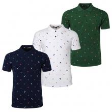 Bộ 3 áo thun nam cổ bẻ họa tiết biển xanh chuẩn mọi phong cách Pigofashion cao cấp AHT20 xanh rêu, trắng, xanh đen