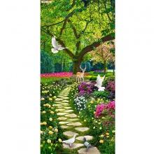 Tranh dán tường vườn hoa công viên SN50