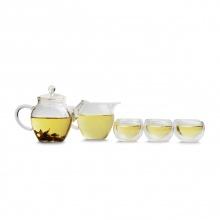 Bộ ấm - tống - 6 chén trà thủy tinh Dotea