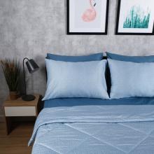 Bộ chăn drap cotton satin Hàn Quốc 5 món Lux. Pattern 1m8x2m