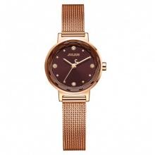Đồng hồ nữ Julius Hàn Quốc chính hãng JA-917D dây thép (Đồng mặt nâu)