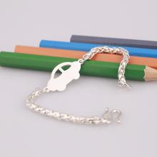 Opal - lắc tay bạc Ý cá tính cho bé - T8