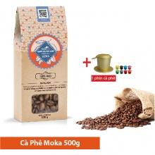 Hộp cà phê hạt rang Moka 500g + 1 phin mạ màu công nghệ cao