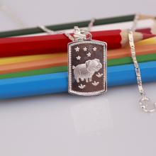 Opal - dây chuyền bạc tuổi Hợi cho bé - T8