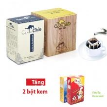 Combo cà phê chồn túi lọc (15g x 15 túi) + 2 bột kem pha cà phê (2 x 170g)