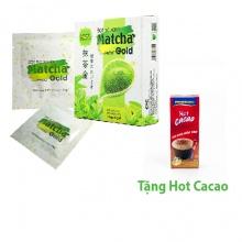 Combo hộp bột trà xanh Matcha gold 50g + hộp Passion hot ca cao