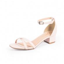 Giày nữ, giày cao gót đế vuông Erosska cao 3cm thời trang thiết kế phối màu sang trọng EB005 (pi)