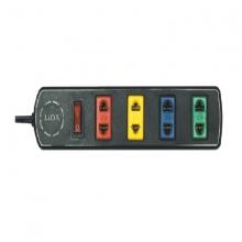 Ổ cắm điện 4 lỗ có công tắc Lioa 4TS3-2 dây 3m mày đen