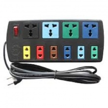 Ổ cắm điện 10 lỗ đa năng (6 lỗ 2, 4 lỗ 3) Lioa 4D6S32  dây 3m màu đen