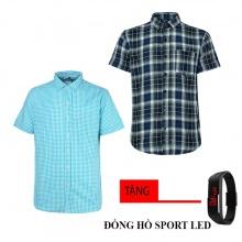 Combo 2 áo sơ mi nam sọc caro Model Fashion cao cấp MSMI8242 (tặng đồng hồ sport led )