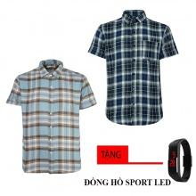 Combo 2 áo sơ mi nam sọc caro Model Fashion cao cấp MSMI8268 (tặng đồng hồ sport led )
