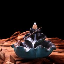 Thác khói hồ liên xanh + tặng kèm 10 nụ búp sen trầm hương