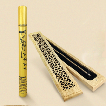 (Mua 1 tặng 1) trầm hương không tăm cao cấp nhang thiền - trụ vàng - 85 cây - tặng kèm hộp đốt dài 120.000đ