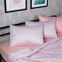 Bộ chăn drap cotton satin Hàn Quốc 5 món Lux. Pattern 04 1m8x2m
