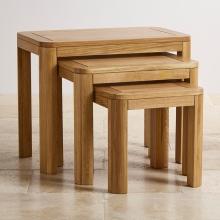 Bộ bàn xếp lồng Emley gỗ sồi - Cozino