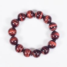 Vòng tay phong thủy nam đá mắt hổ nâu đỏ 14mm mệnh hỏa, thổ - Ngọc Quý Gemstones