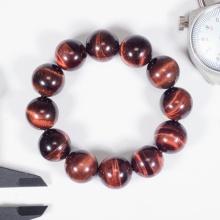Vòng tay phong thủy nam đá thạch anh mắt hổ nâu đỏ 18mm mệnh hỏa, thổ - Ngọc Quý Gemstones