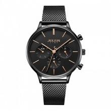 Đồng hồ nữ JS-005 Julius Star Hàn Quốc dây thép