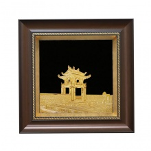 Tranh khuê văn các mạ vàng - quà tặng lưu niệm Hà Nội